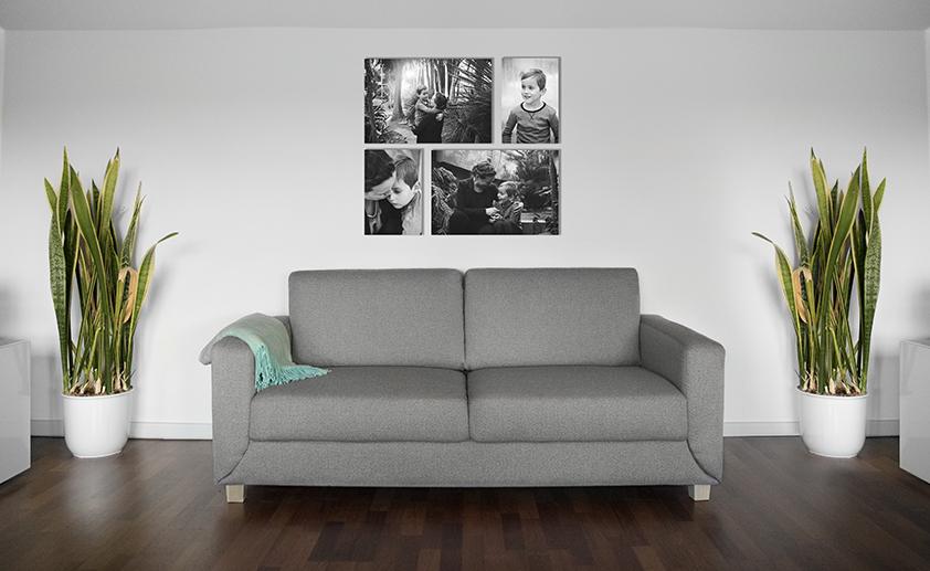 ophæng af billeder i stuen info