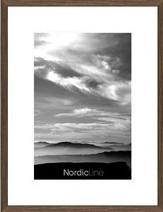 nordicline slim valnød 30x40