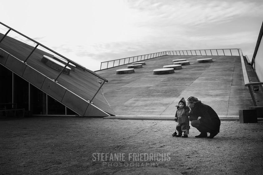 Mor og barn fotografi på godsbanen aarhus