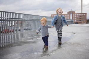 løbende børn ved Dokk1 Århus