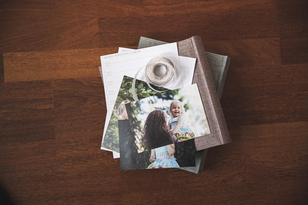 Fotoalbum indklæbning lommer