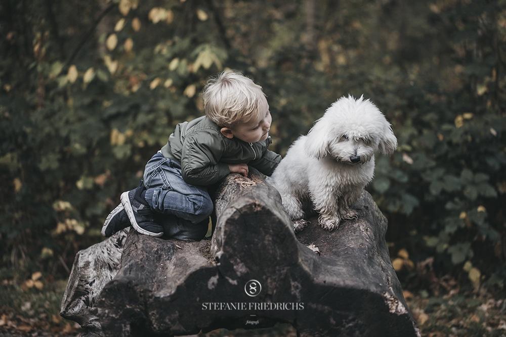 børnefotografering i skoven